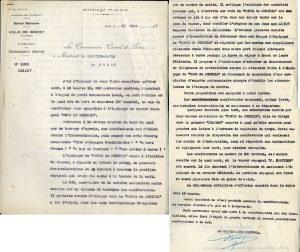 rapport de police suite à la manifestation du 12 mars 1937 (archives Brest métropole)