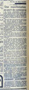 """article paru dans la """"dépêche de Brest"""""""