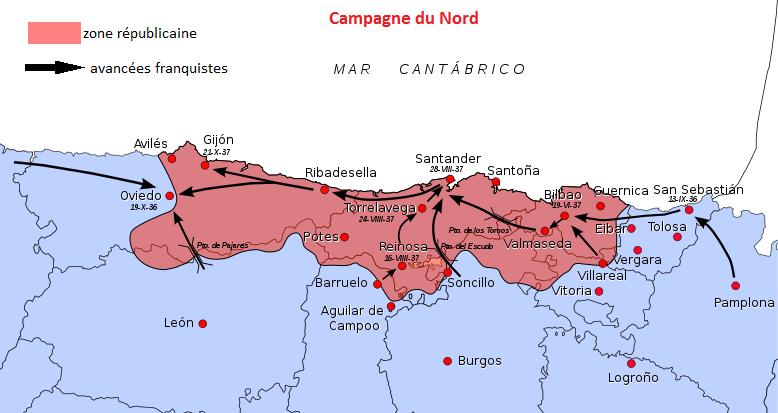 (La campagne du Nord d'après un travail personnel d'Emilio Gómez Fernández – 2006)