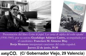 INVITACIÓN PRESENTACIÓN GRITOS DE PAPEL