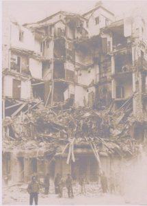 Edificio bombardeado en La Latina, Madrid