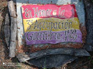 En honor a la 3a Agrupación Guerrillera 1939-1947